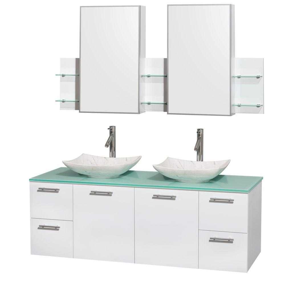 and the kitchen sink wyndham collection amare 60 in vanity in glossy 4064