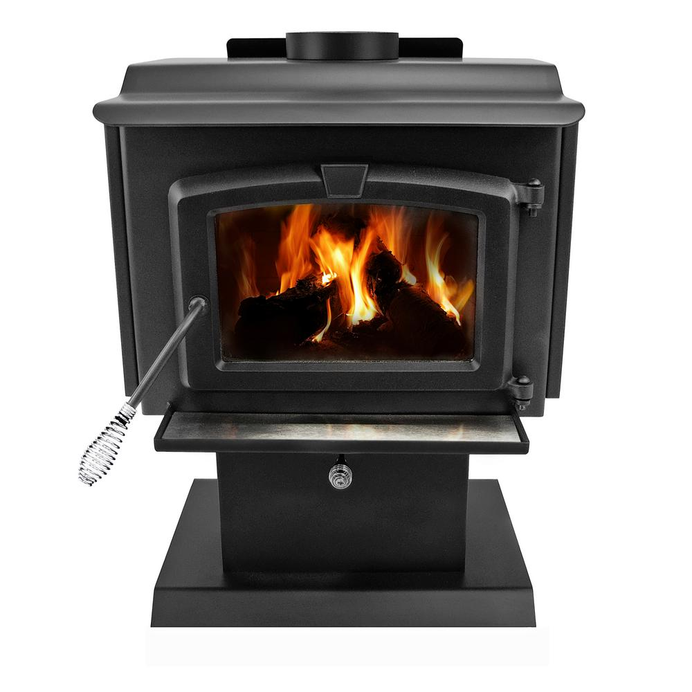 200 sq. ft. EPA Certified Wood-Burning Stove with Small Blower-HWS-224172MH - The Home Depot