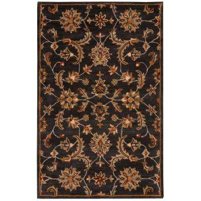 India House Charcoal 3 ft. 6 in. x 5 ft. 6 in. Area Rug