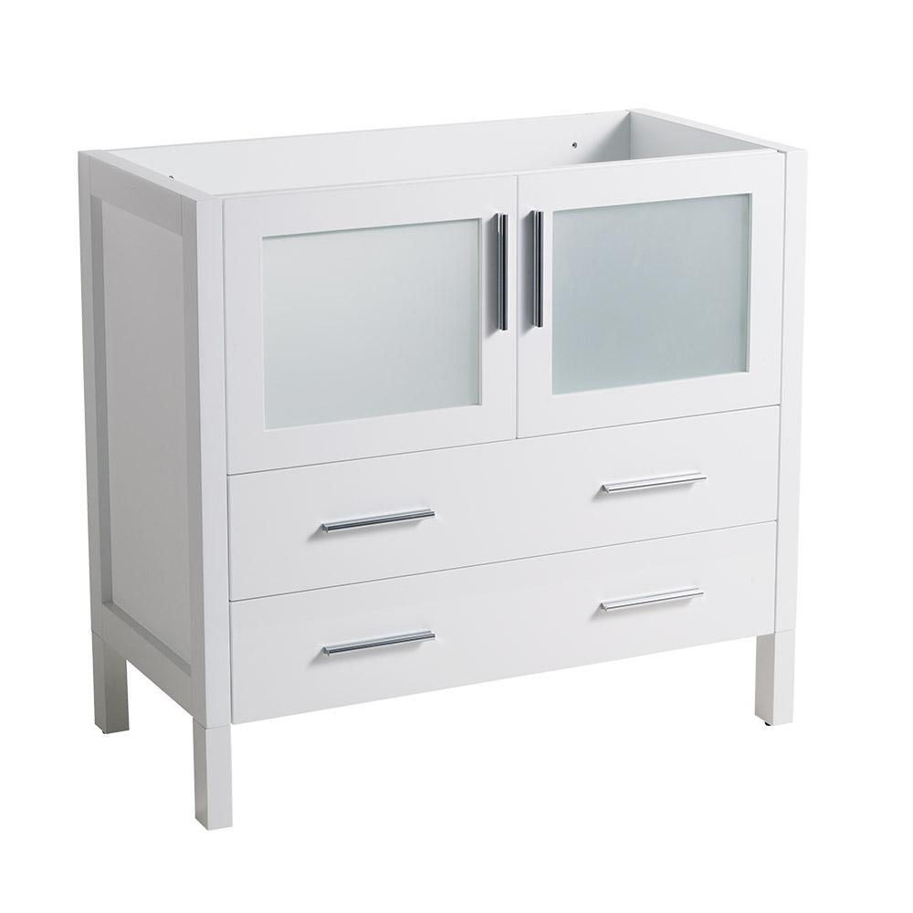 Fresca 36 in. Torino Modern Bathroom Vanity Cabinet in White ...