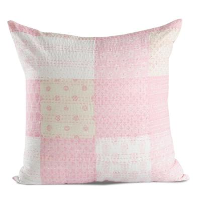 Traditional Patola Pink Multicolored Graphic Hypoallergenic Polyester 20 in. x 20 in. Throw Pillow
