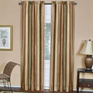 Achim Semi-Opaque Ombre Earth Polyester Panel Curtain - 50 inch W x 84 inch L by Achim