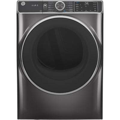 7.8 cu. ft. Smart 240-Volt Diamond Gray Stackable Electric Vented Dryer with Steam and Sanitize Cycle, ENERGY STAR
