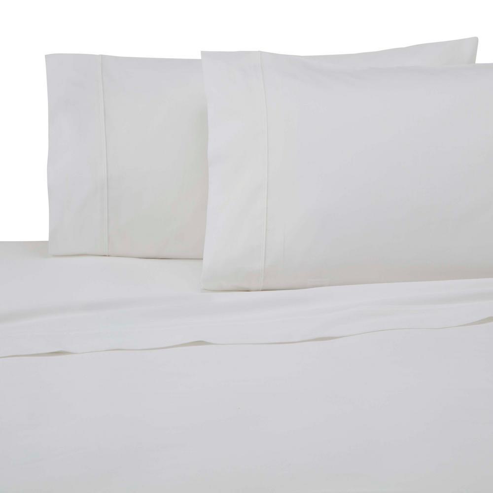 Modern Living 300 Thread Count 3-Piece True White Cotton Twin Sheet