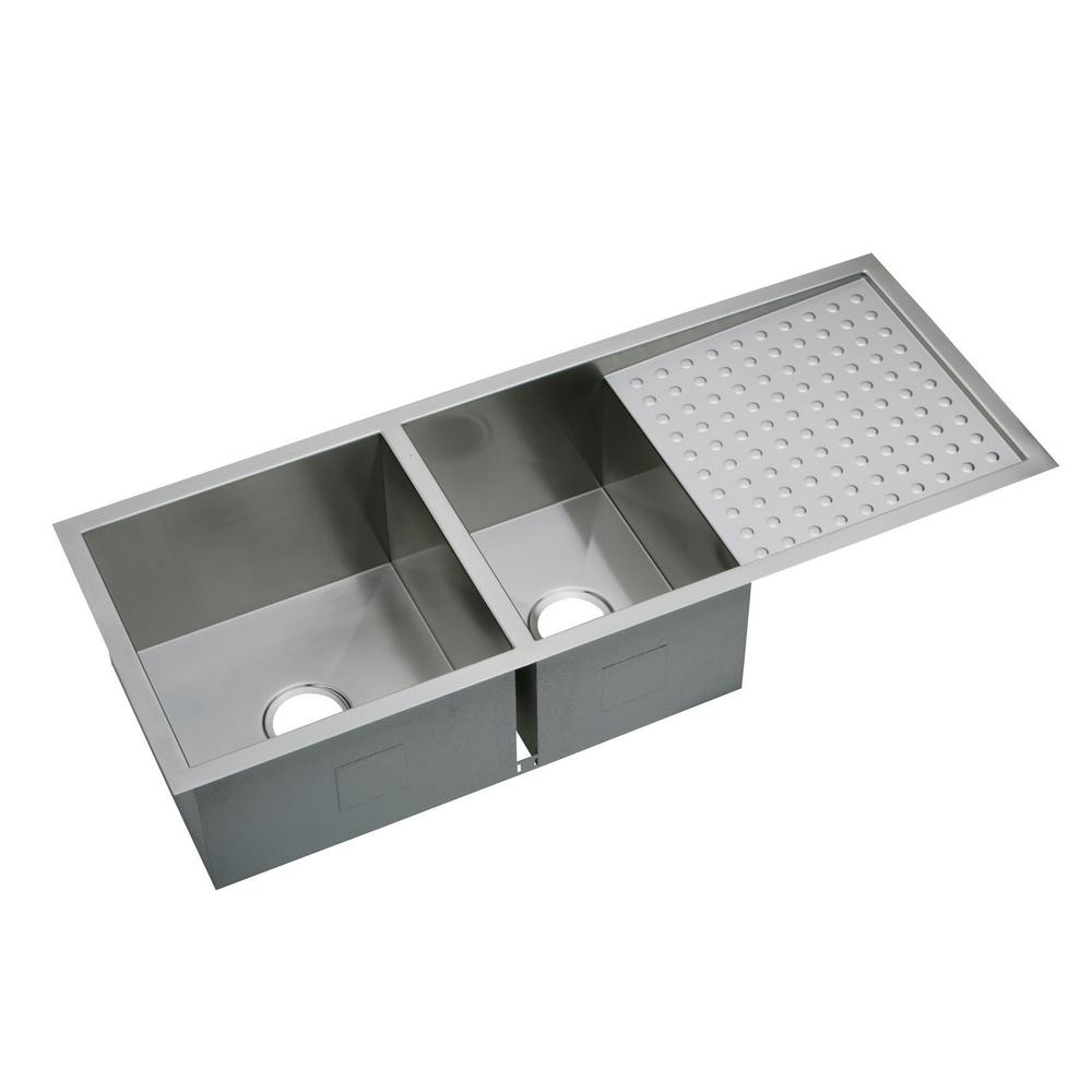 Elkay Crosstown Undermount Stainless Steel 47 In. Double Bowl Kitchen Sink EFU471810DB    The Home Depot