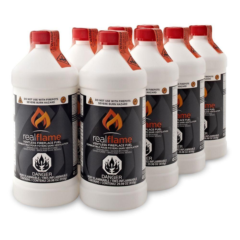Real Flame Ventless Fireplace Fuel 30 oz. (8-Pack)-DISCONTINUED