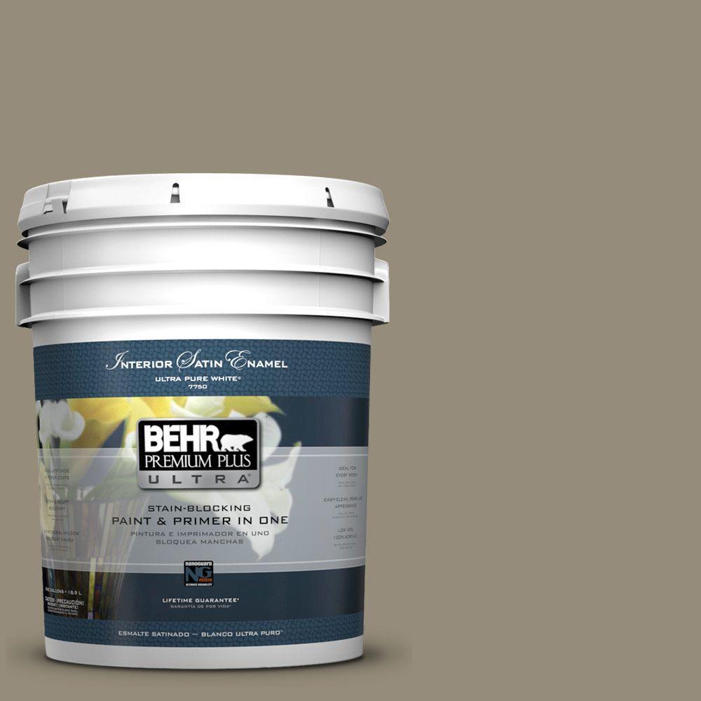BEHR Premium Plus Ultra 5-gal. #770D-5 Carriage Door Satin Enamel Interior Paint