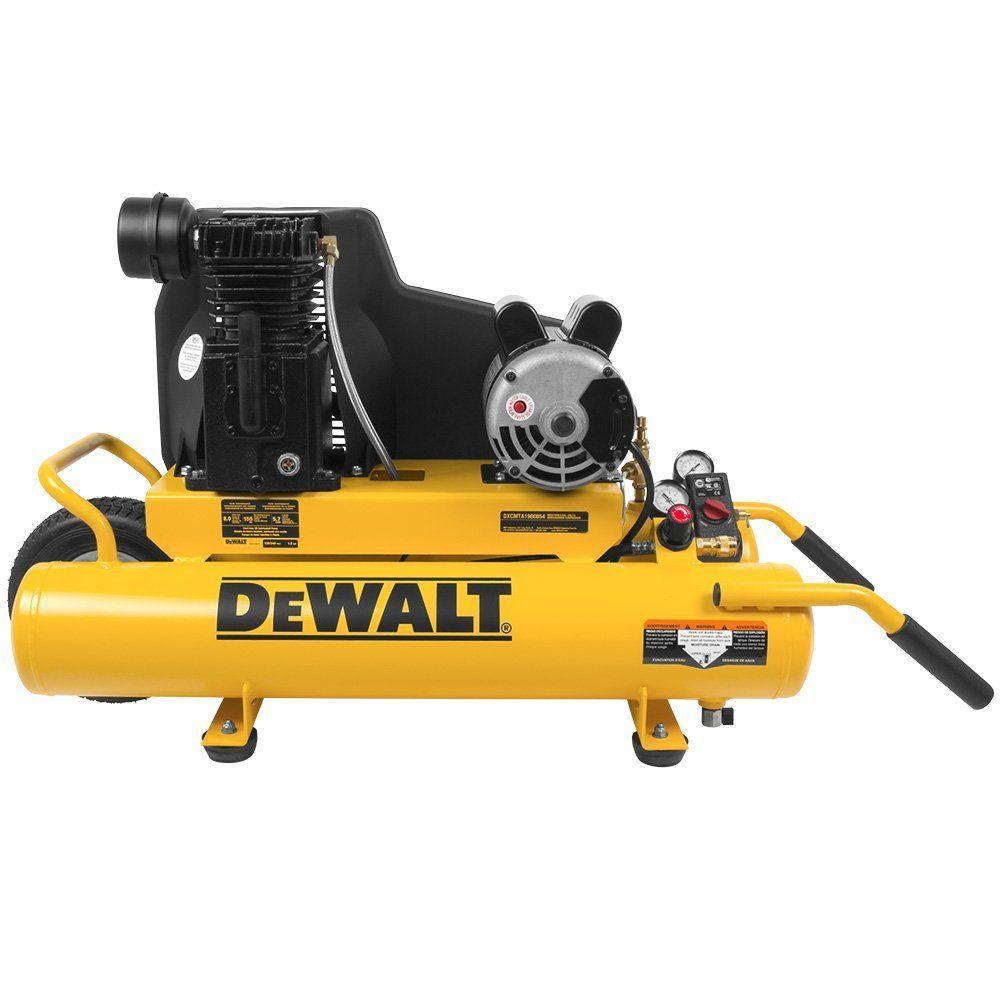 DeWALT 8 Gal. 155 PSI 1.9 HP Electric Dual Voltage Wheelb...
