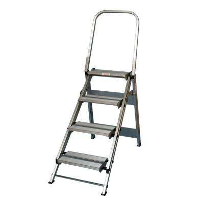 4 Step Aluminum Step Ladder 375 lb Load Capacity Type IAA Duty Rating