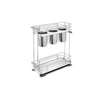 8 in. Two-Tier Utility Organzier with Soft-Close