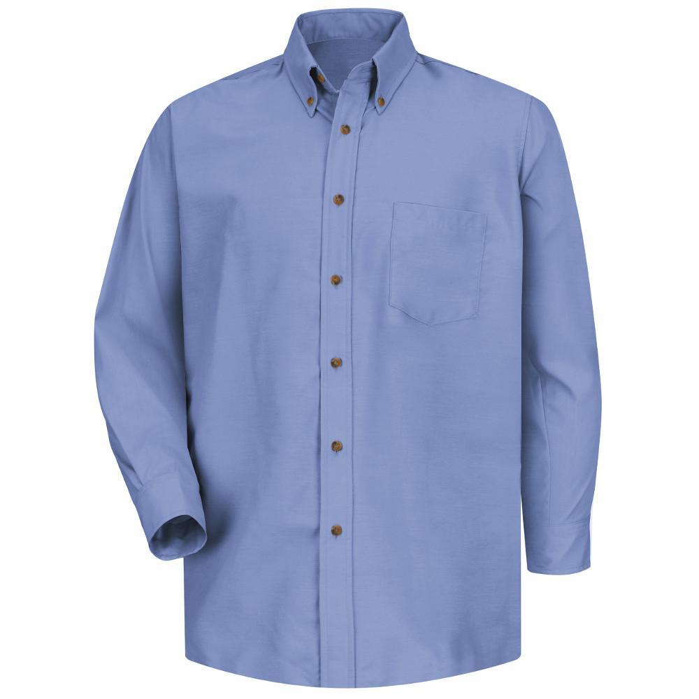 Men's Size M x 32/33 Light Blue Poplin Dress Shirt