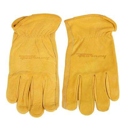 Premium Cowhide Leather Driver's Gloves (Men's M)