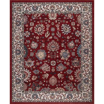 Red Low Pile 5 X 7 Area Rugs