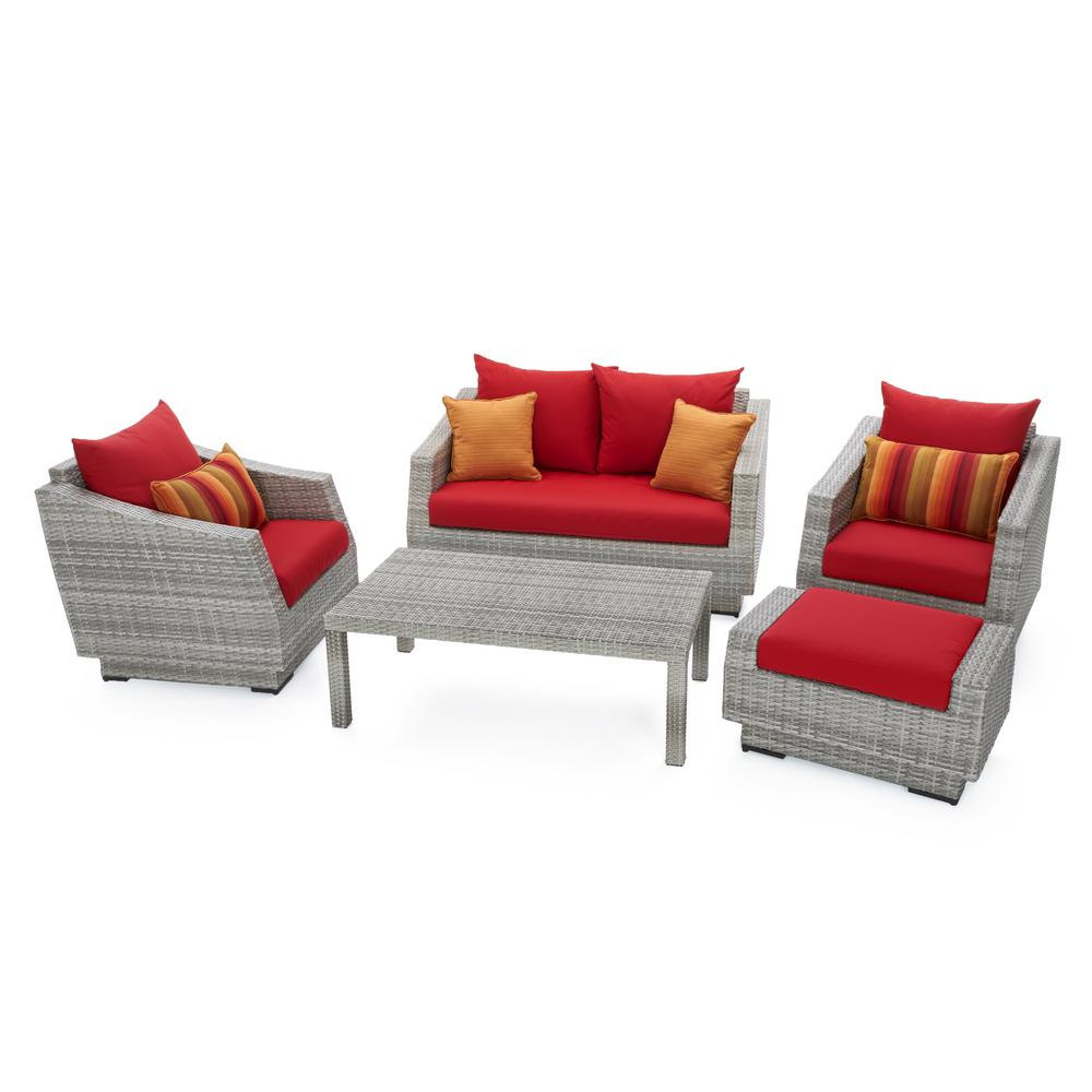 Atlantic Contemporary Lifestyle Nice Brown 5-Piece Patio