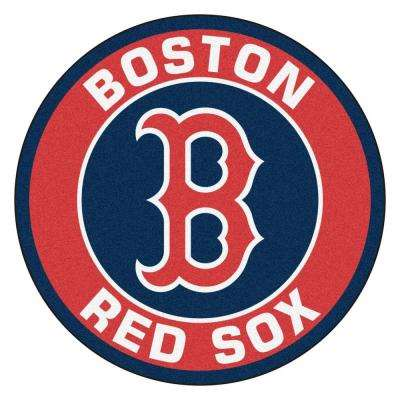 MLB Boston Red Sox Red 2 ft. x 2 ft. Round Area Rug