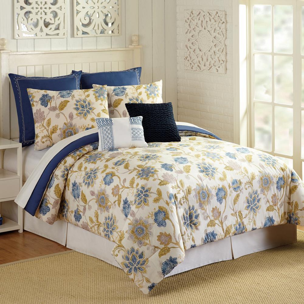 Monterey 7-Piece Multicolored Queen Comforter Set