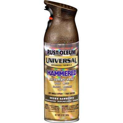 12 oz. All Surface Hammered Brown Spray Paint and Primer in One (6-Pack)