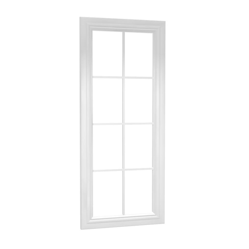Home Decorators Collection Coventry Assembled 12 x 42 x 0.75 in. Wall Mullion Door in Pacific White