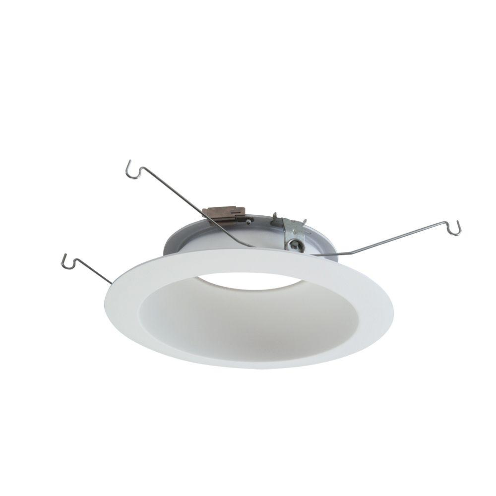ML 6 in. White LED Recessed Ceiling Light Reflector and Flange