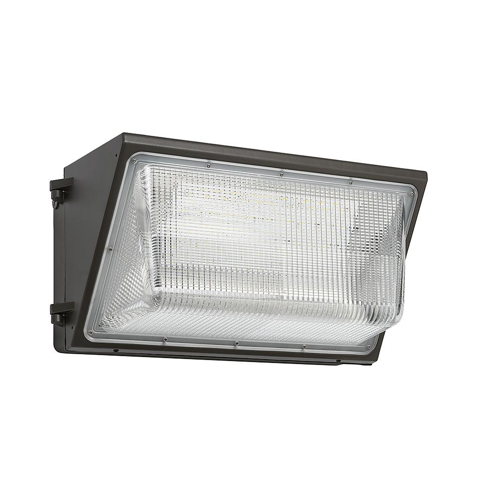 400 Watt Led Wall Pack Lights: ETi 18 In. Bronze Outdoor Integrated LED Wall Pack Light
