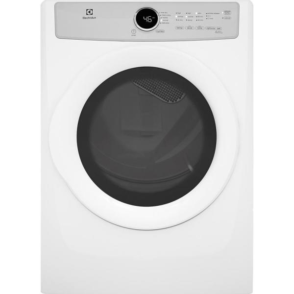 8.0 cu. ft. Electric Dryer in White, ENERGY STAR
