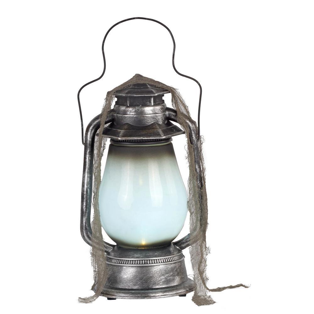 15 in. Graveyard Lantern with White LED Illumination