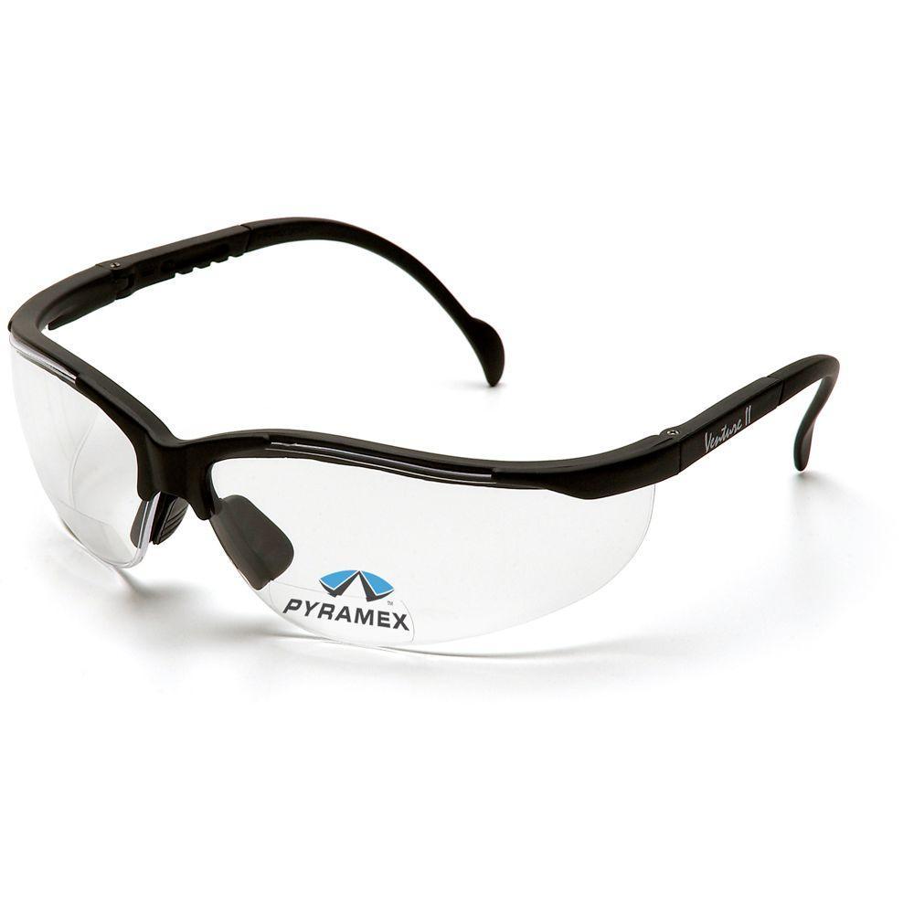 null V2 Readers Black Frame Clear Lens Safety Glasses-DISCONTINUED