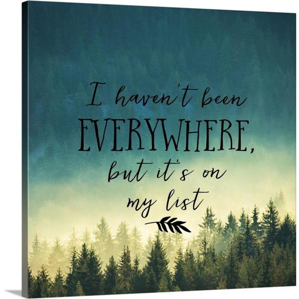 GreatBigCanvas ''I Haven't Been Everywhere - Sentiment'' by Inner Circle