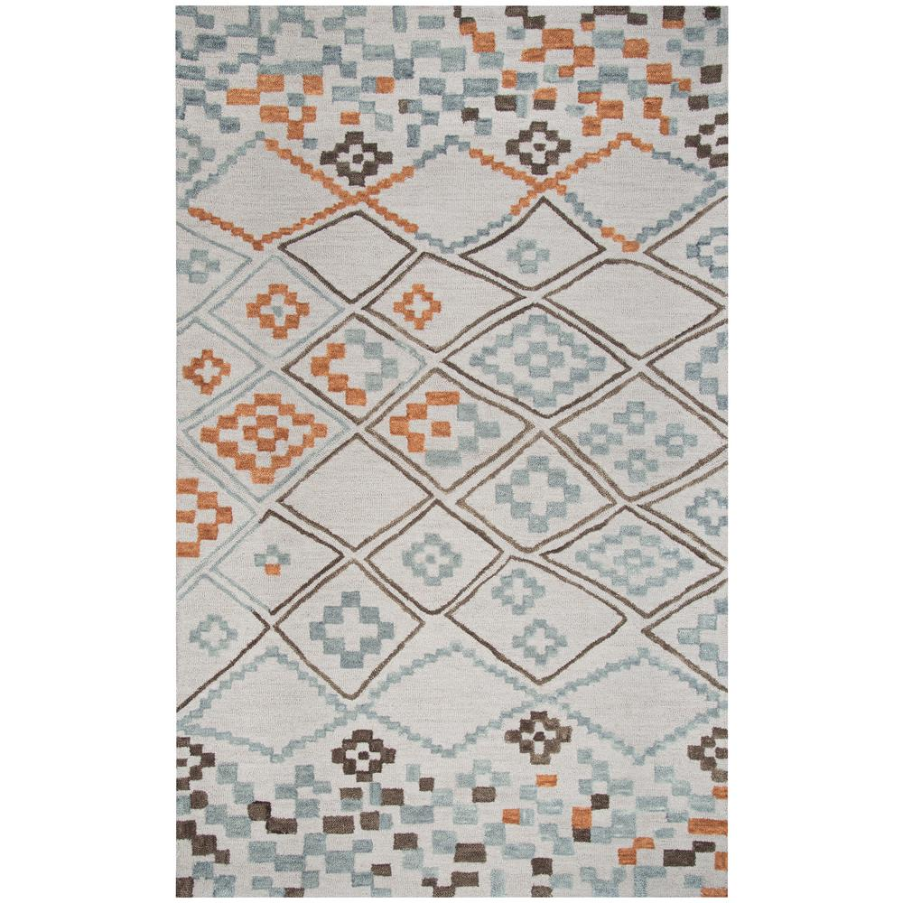 Rizzy home lancaster grey geometric 9 ft x 12 ft area for Geometric print area rugs