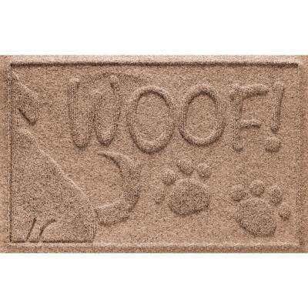 Medium Brown 18 in. x 28 in. Wag the Dog Polypropylene Pet Mat