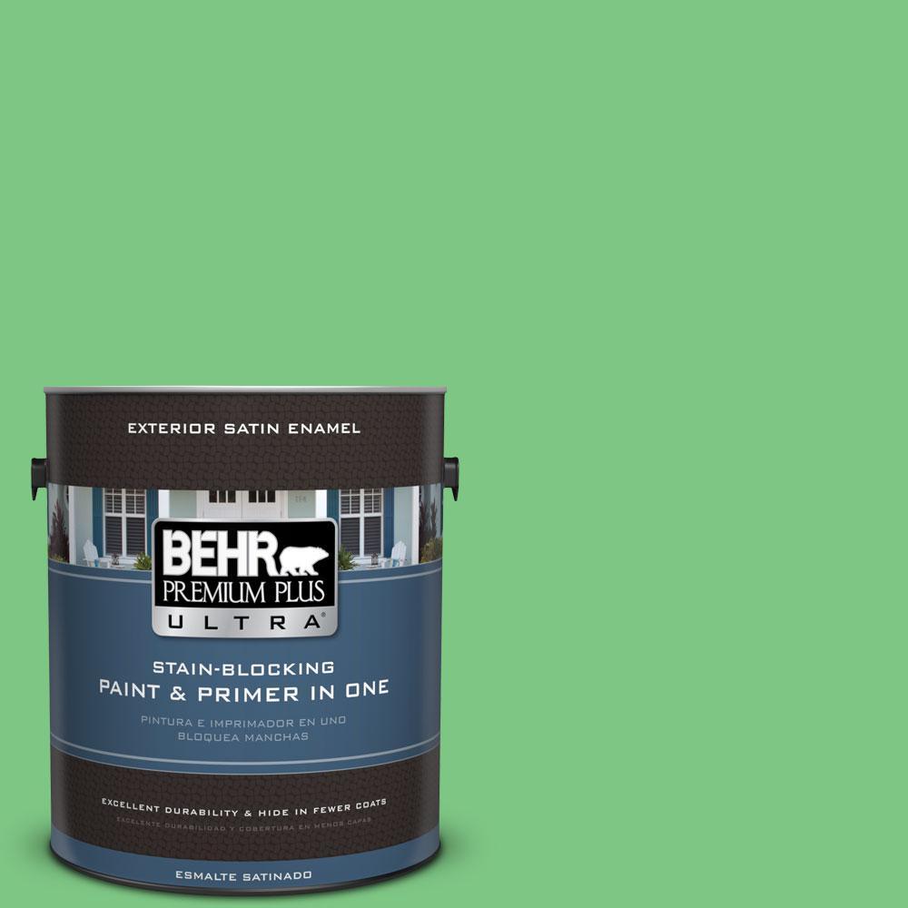 BEHR Premium Plus Ultra 1-gal. #P390-5 Garden Stroll Satin Enamel Exterior Paint