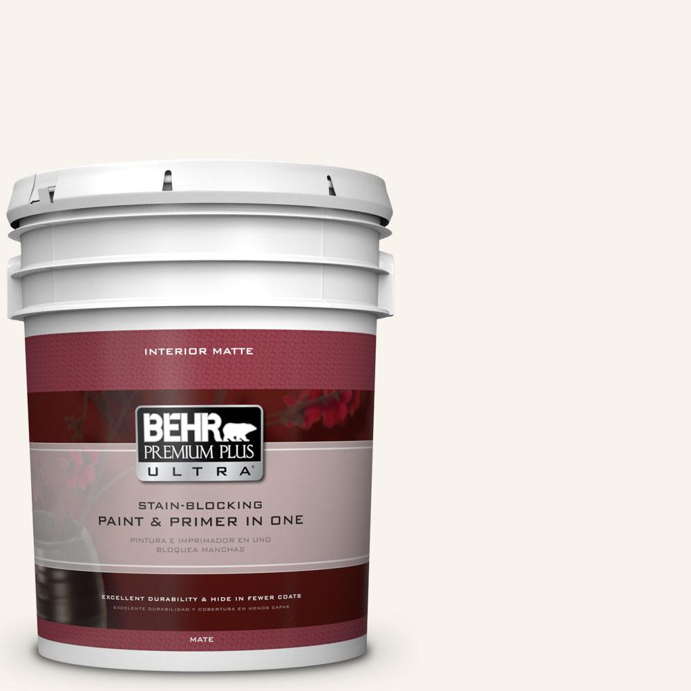 5 gal. #PWN-30 Clear Moon Flat/Matte Interior Paint