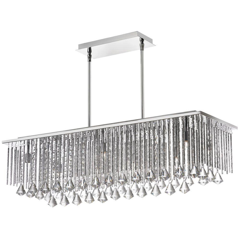 Radionic hi tech jacqueline 10 light polished chrome crystal radionic hi tech jacqueline 10 light polished chrome crystal horizontal chandelier arubaitofo Images