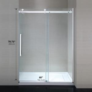 Ove Decors Sierra 60 In X 79 In Frameless Sliding Shower