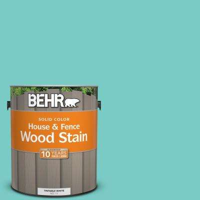 1 gal. #BIC-39 Blue Green Gem Solid Color House and Fence Exterior Wood Stain