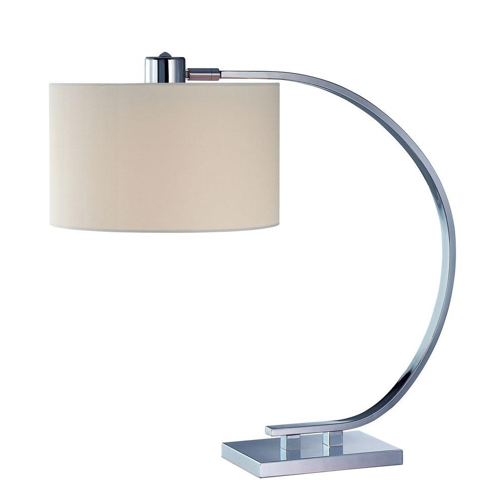 21 in. 1-Light Chrome Table Lamp