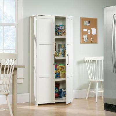HomeVisions Soft White Storage Cabinet