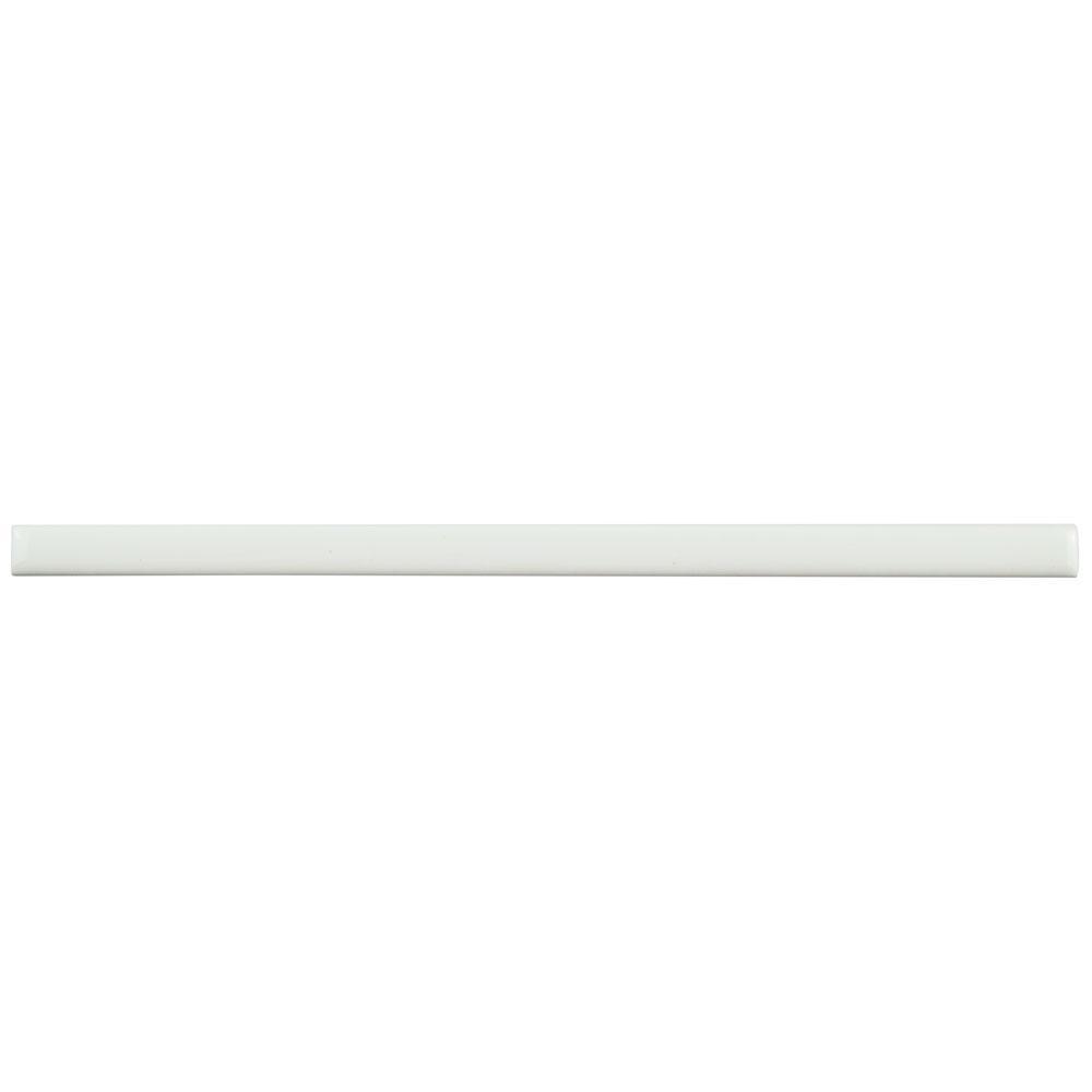merola tile blanco 1 2 in x 8 in ceramic listelo liner wall trim tile wcvrgbll the home depot. Black Bedroom Furniture Sets. Home Design Ideas