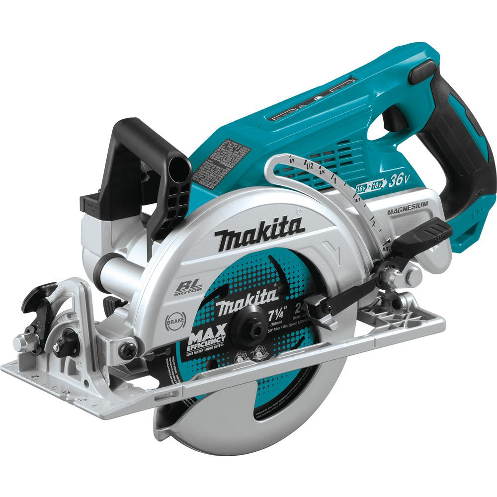 Makita 18-Volt X2 LXT Lithium-Ion (36-Volt) Brushless Cordless Rear Handle 7-1/4 in. Circular Saw (Tool-Only)