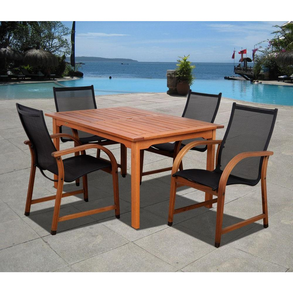 amazonia cooper 3 piece eucalyptus rectangular patio dining set sc 2richbench bt361 the home depot. Black Bedroom Furniture Sets. Home Design Ideas