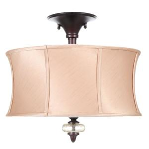 bac4571e67a Chambord Collection 3-Light Weathered Copper Ceiling Semi-Flush Mount Light  Fixture