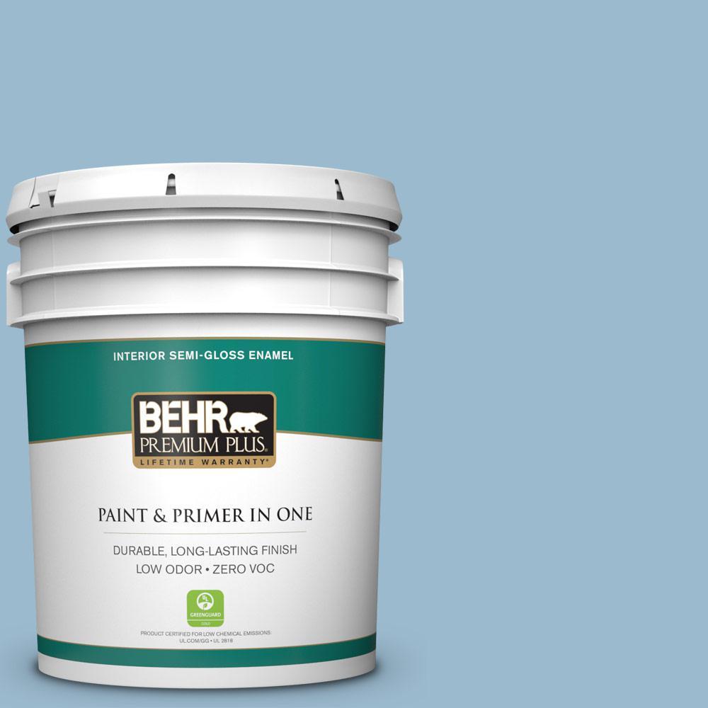 BEHR Premium Plus 5-gal. #S500-3 Partly Cloudy Semi-Gloss Enamel Interior Paint