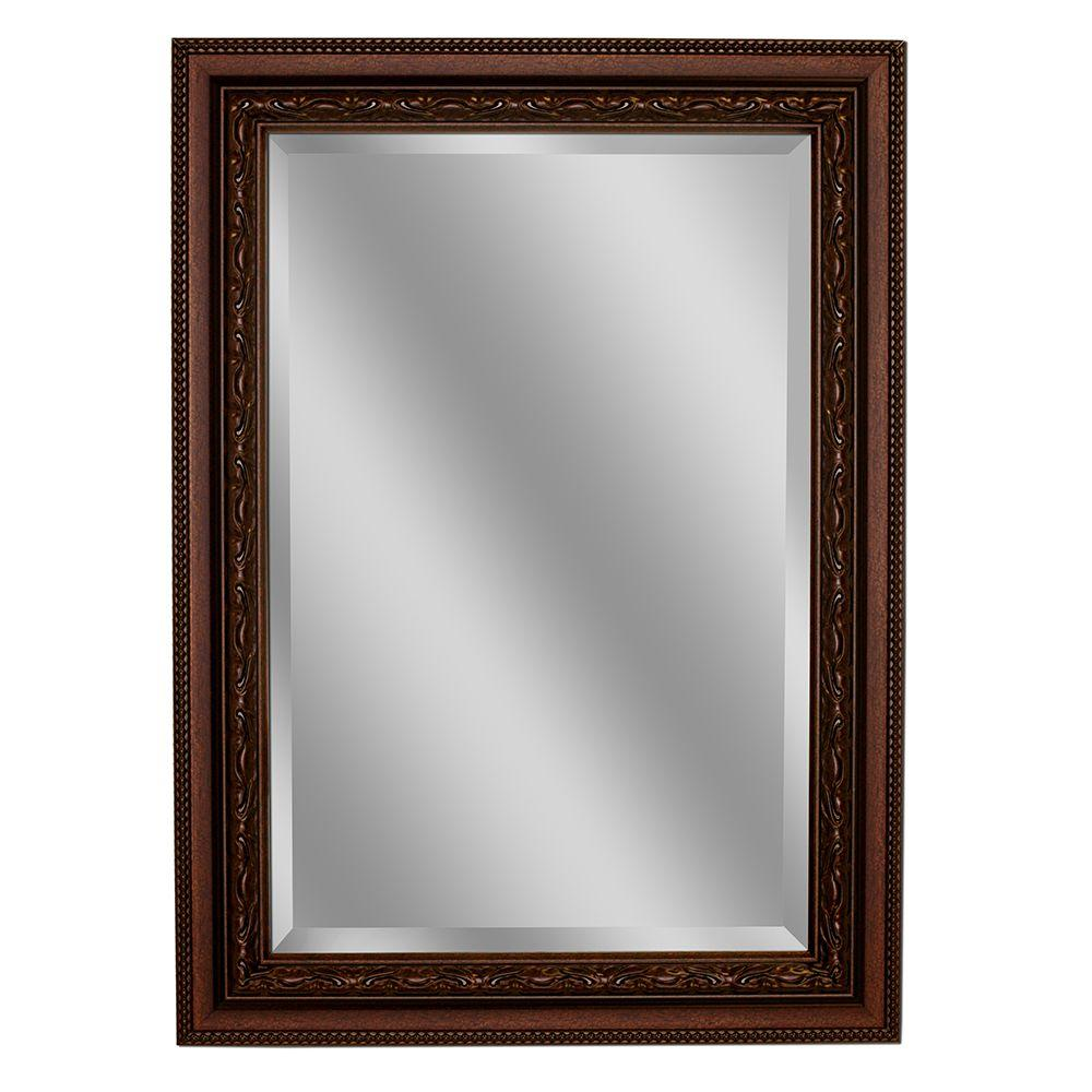 Deco Mirror Addyson 32 In X 44 Single Framed Wall Copper 8950 The Home Depot