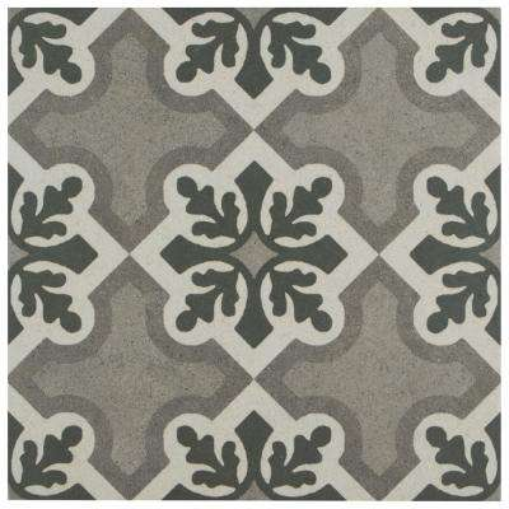 Vintage Ruzafa Encaustic 9-3/4 in. x 9-3/4 in. Porcelain Floor and Wall Tile (10.76 sq. ft. / case)