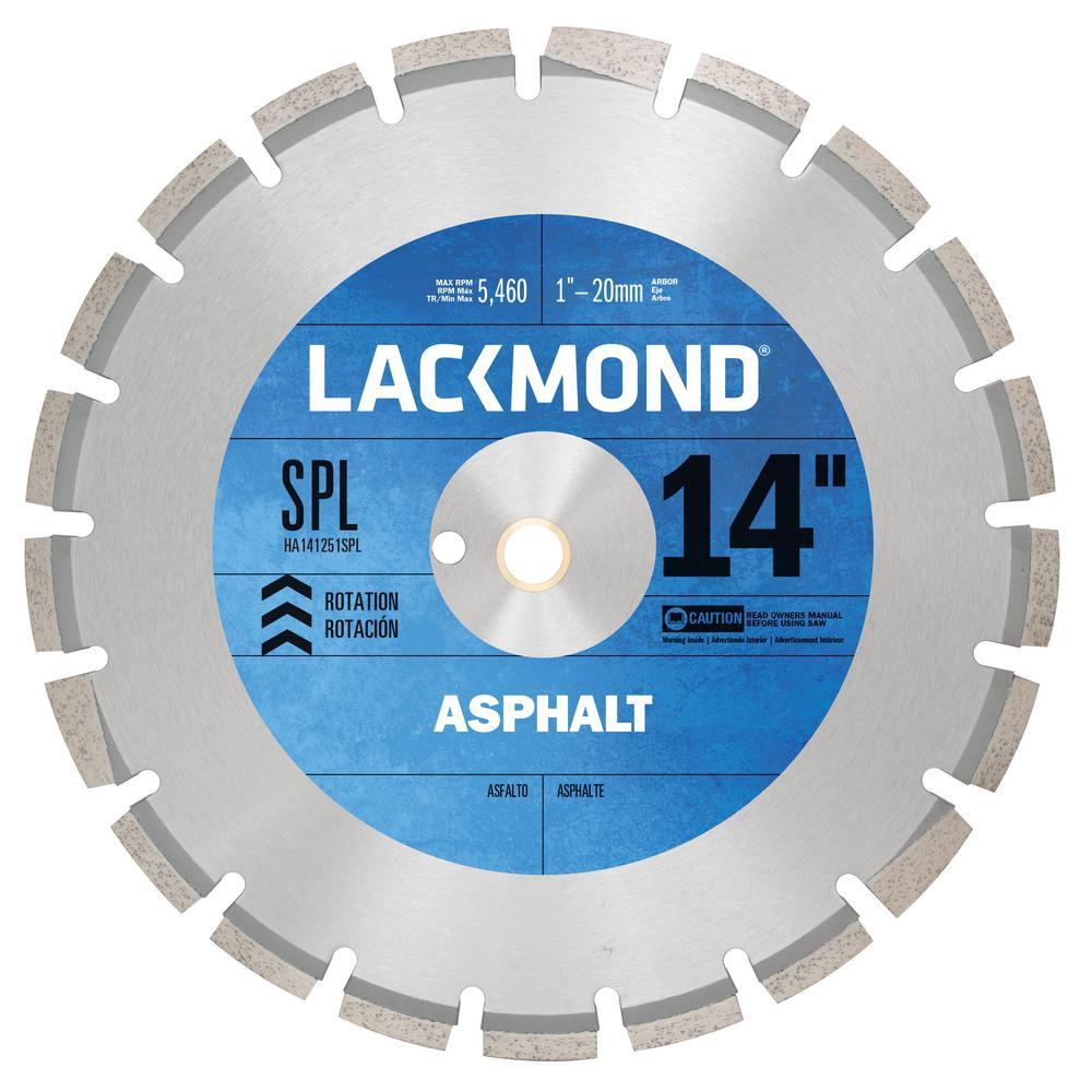 14 in. x 0.125 in. - 1 in. 20 mm Arbor SPL Series Asphalt/Block Blade