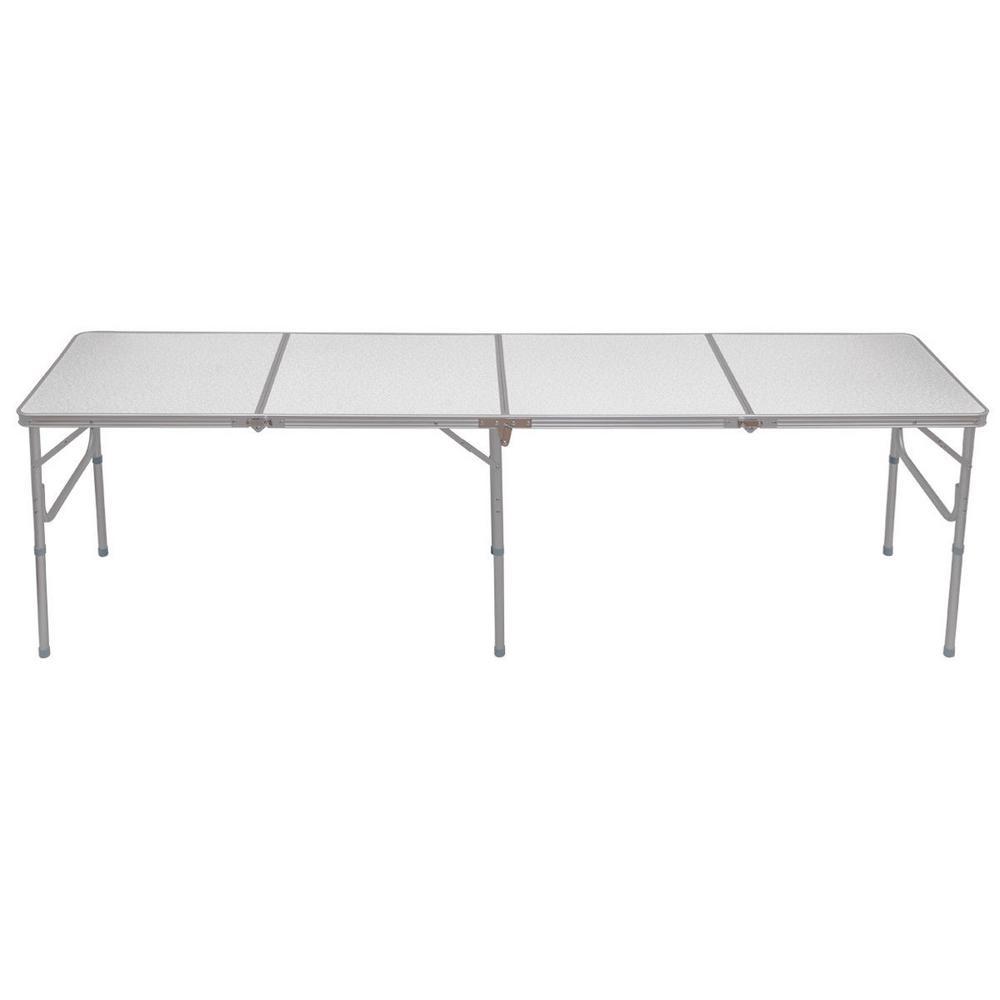 8 ft. Rectangular Aluminum Folding Camping Outdoor Picnic Table