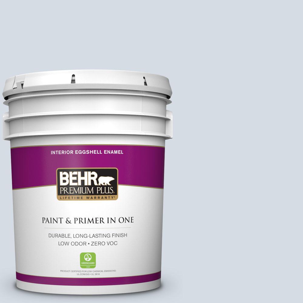 BEHR Premium Plus 5-gal. #PPL-45 Mystic Pool Zero VOC Eggshell Enamel Interior Paint