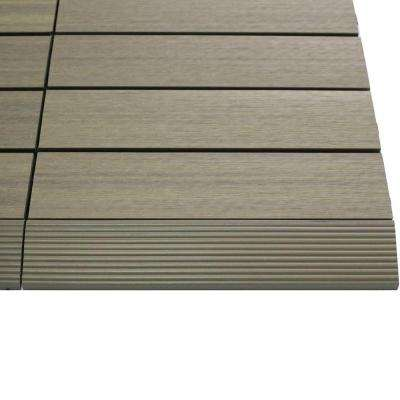 1/6 ft. x 1 ft. Quick Deck Composite Deck Tile Straight Trim in Roman Antique (4-Pieces/Box)