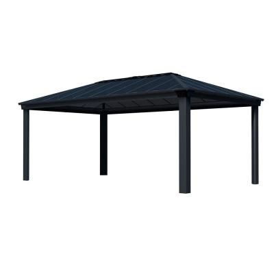 Dallas 6100 12 ft. x 20 ft. Aluminum Hardtop Gazebo with Insulating and Sleek Roof Design