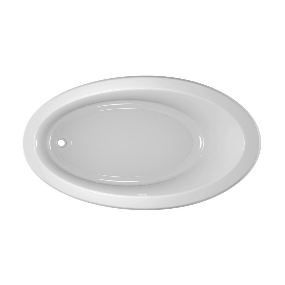 JACUZZI RIVA PURE AIR 66 in. x 38 in. Acrylic Left-Hand Drain Rectangular Drop-in Air Bath Bathtub in White